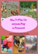 Outdoor Activities for Preschool