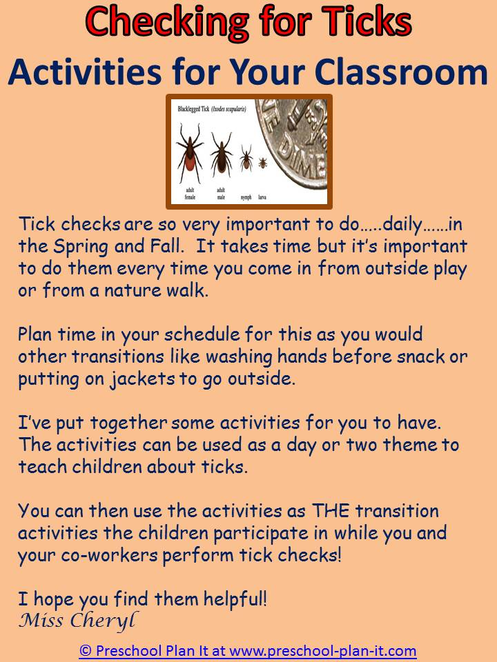 Checking for Ticks in Preschool