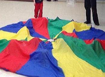 Mardi Gras Preschool Theme Parachute Fun