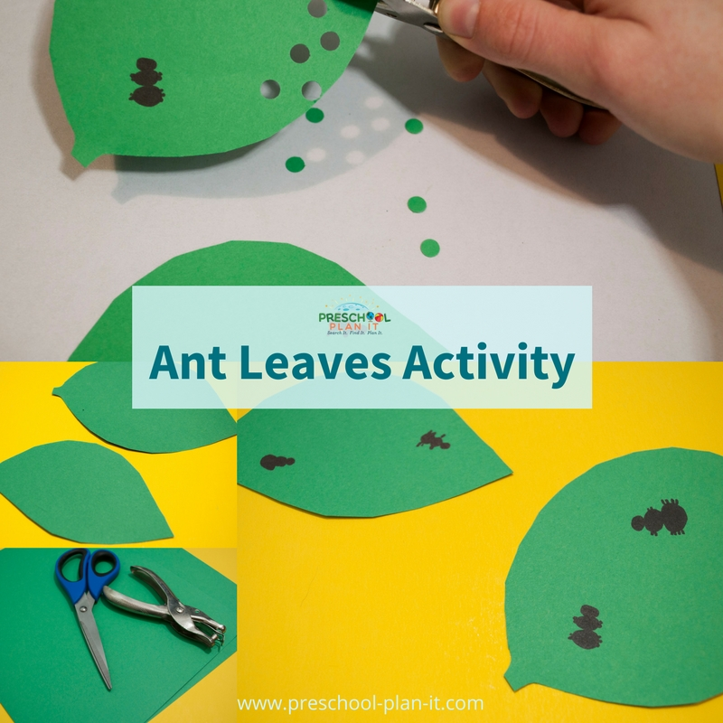 Ant Leaves Activity for your Bugs and Insects Preschool Theme
