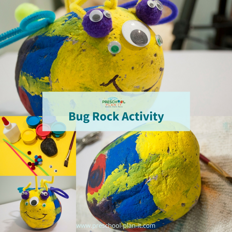 Bug Rock activity for your Bugs and Insects preschool theme
