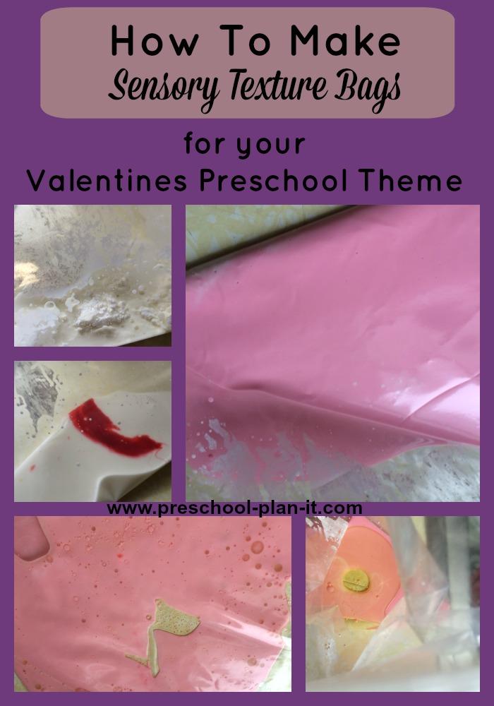 Preschool Sensory Valentines Day Bags