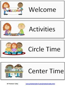 Image result for picture schedule for preschool