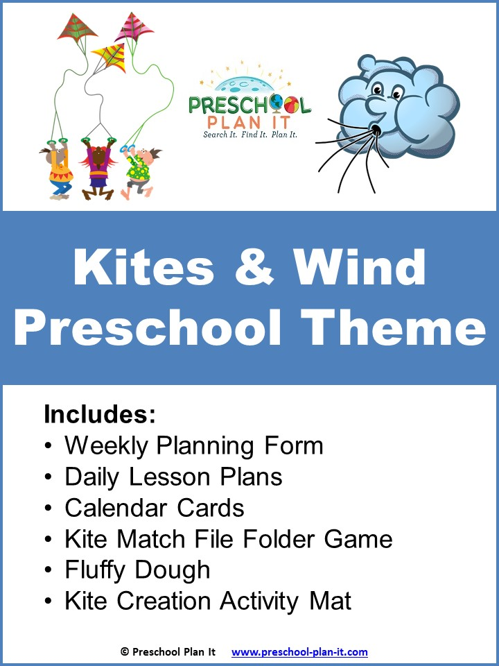 A 26 page Kites and Wind Preschool Theme resource packet to help save you planning time!
