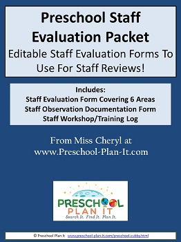 Preschool Staff Evaluation Forms