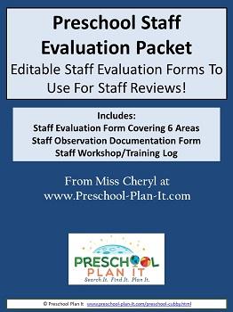 Preschool Staff Evaluation Forms
