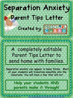 Separation Anxiety Parent Tips Resource