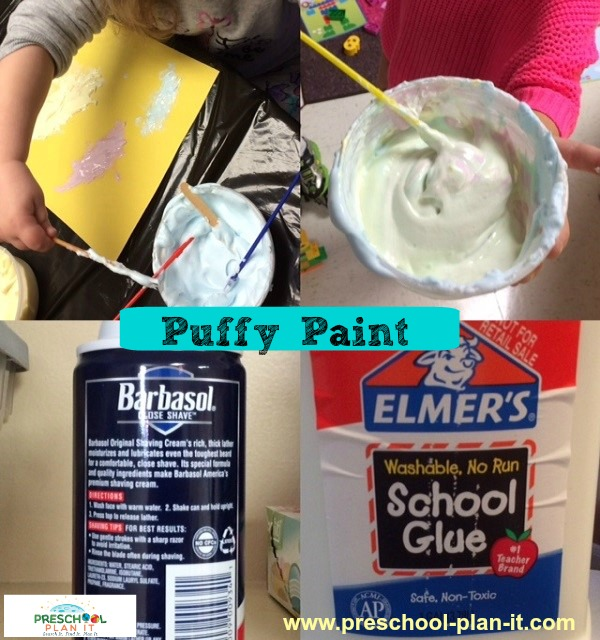 Puffy Paint is fun for any preschool theme!