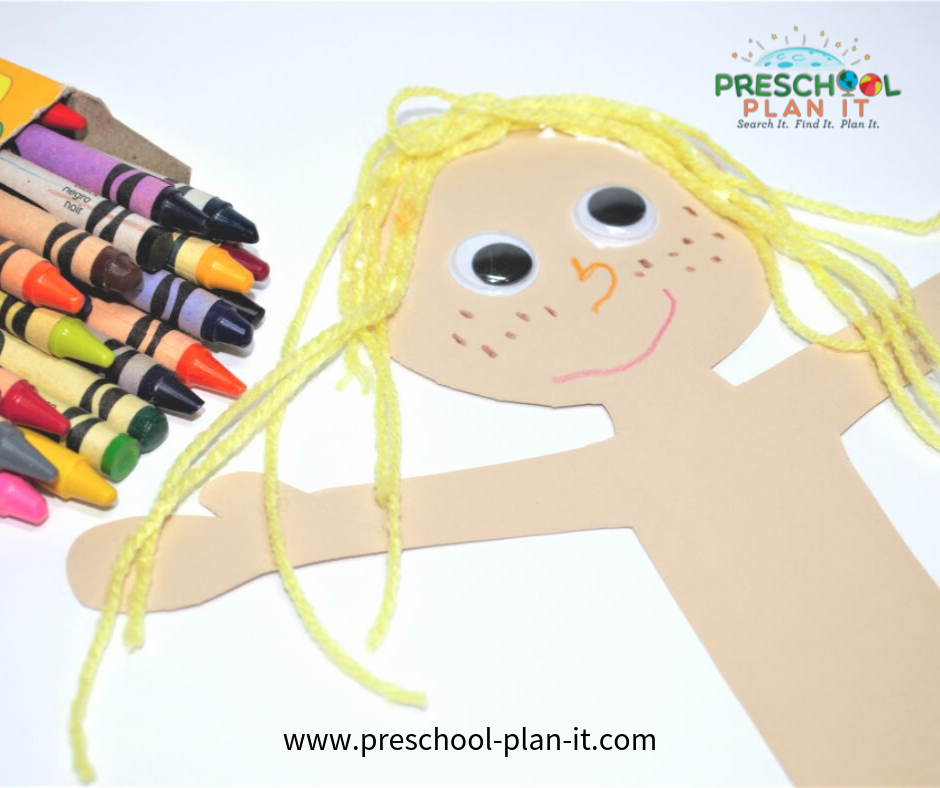 All About Me Preschool Theme Art Activity