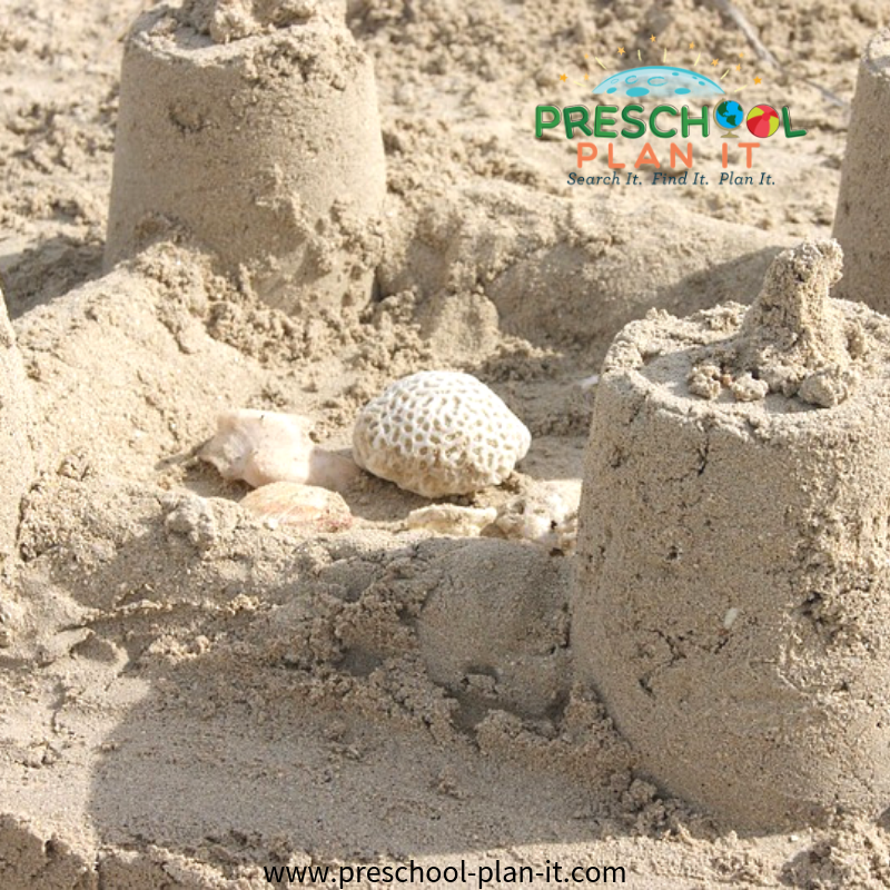 Sandcastle Fun for Preschool Beach Theme