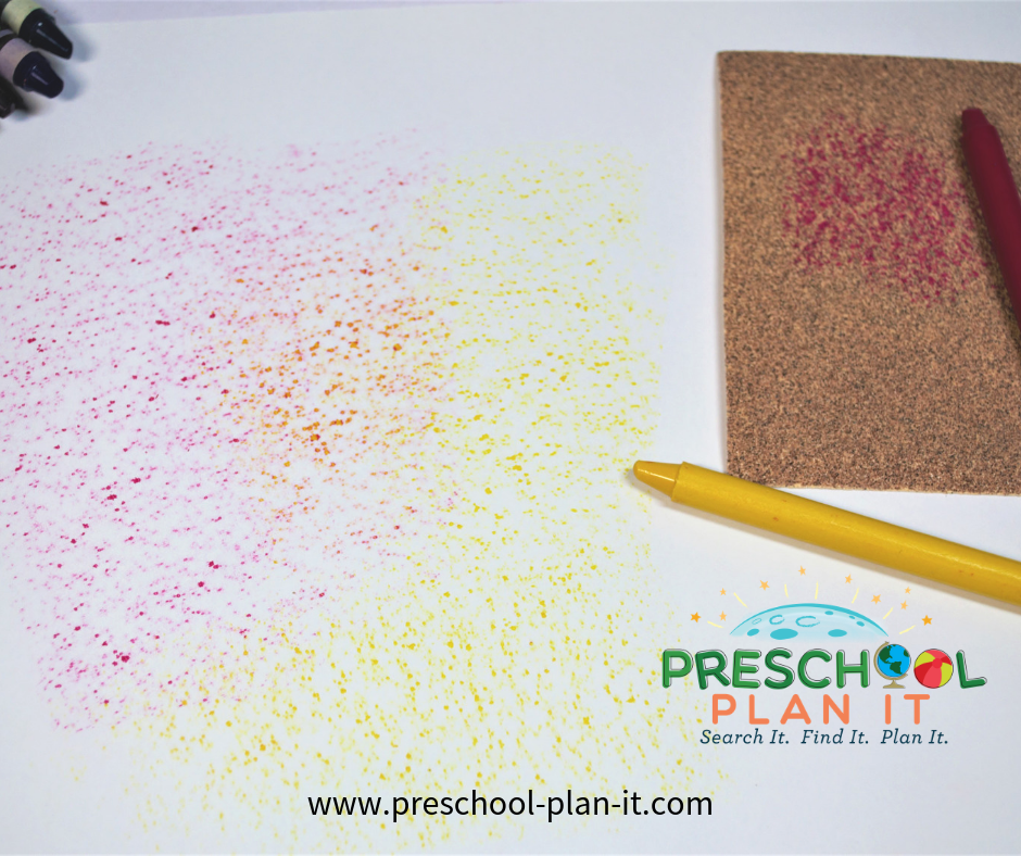Sandpaper Rubbing Activity for Preschool Beach Theme
