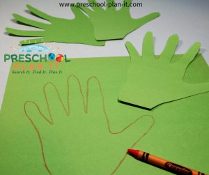 Hand Print Wreaths for a Christian Easter Activities Preschool Theme
