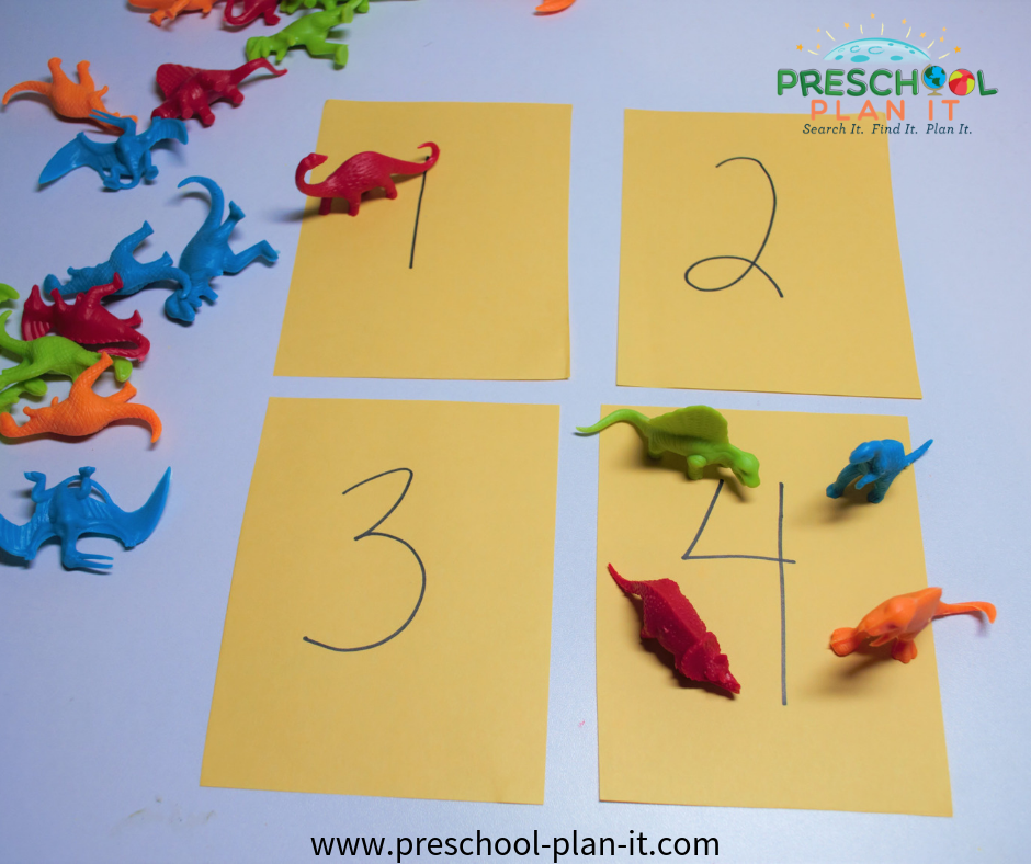 Volcanoes from the Dinosaurs Preschool Theme