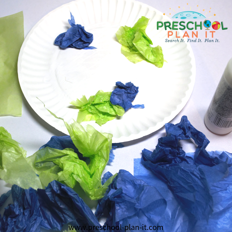 Our Planet Art for a Preschool Earth Day Activities Theme
