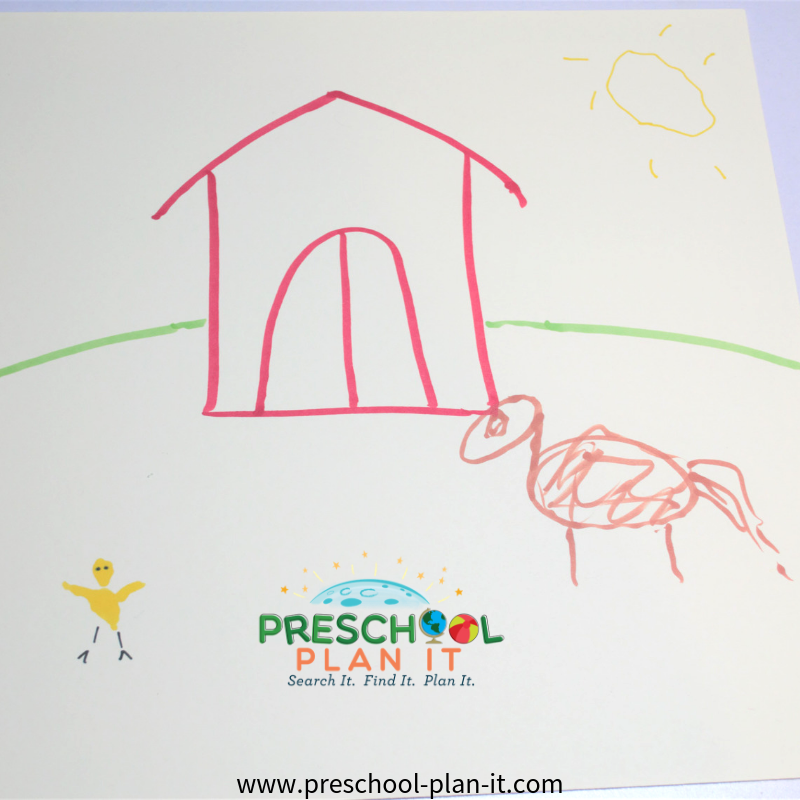 Group Farm Theme Scene Project for Preschoolers