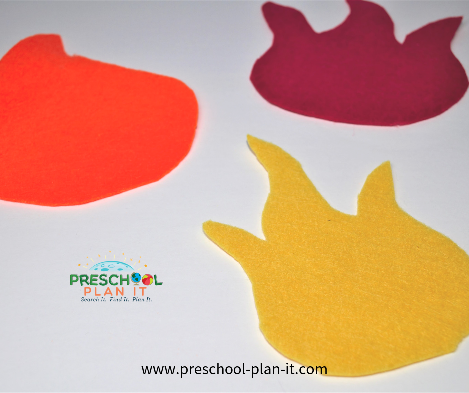 Fire Safety Preschool Theme Felt Game