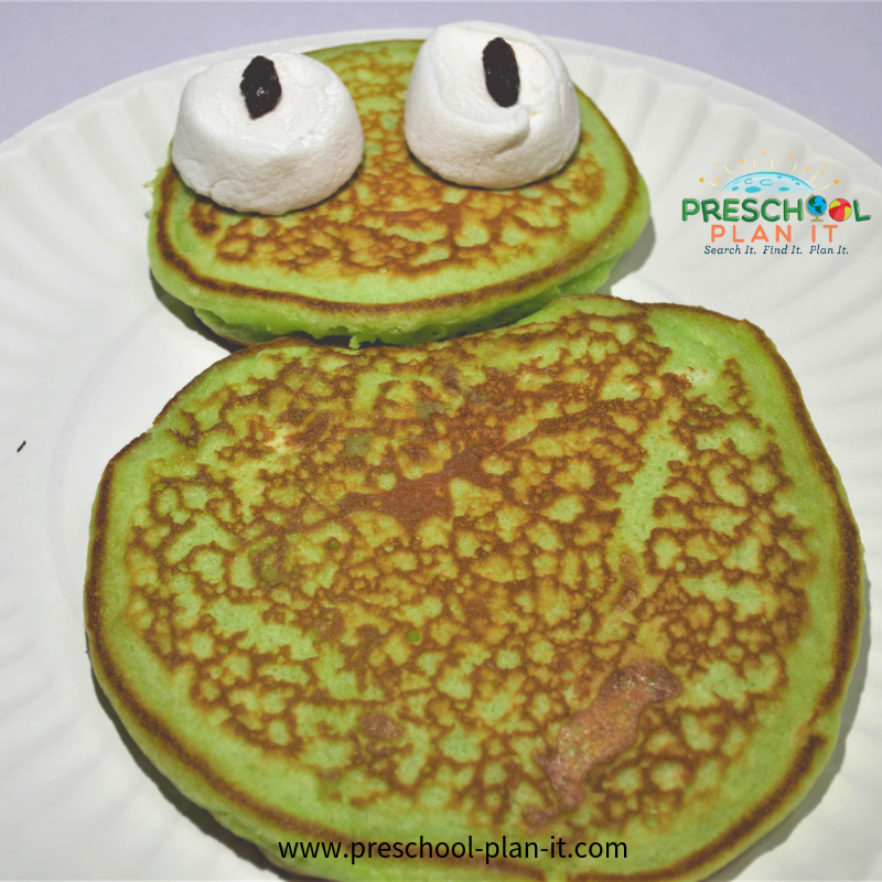Yummy Snack for a Frog Preschool Theme