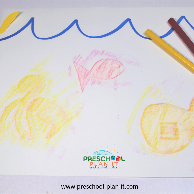 Fish Rubbings Activity from the Ocean Life Preschool Theme