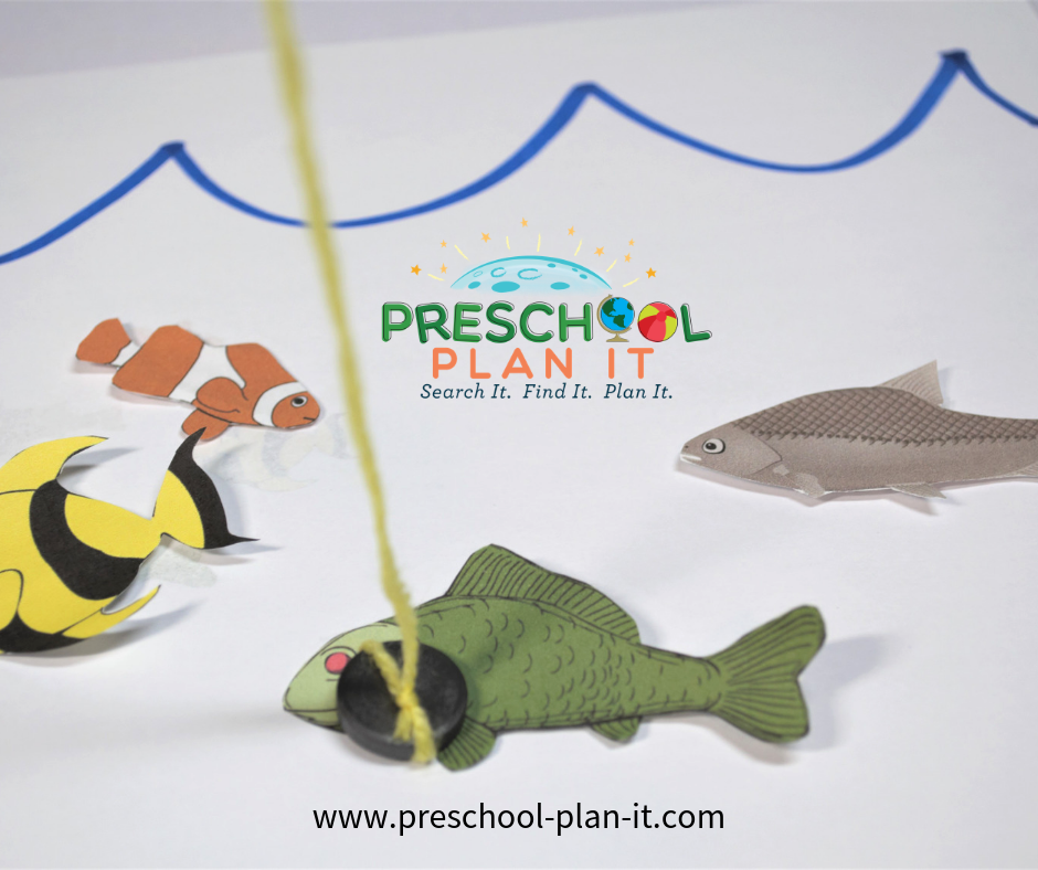 Magnetic Fishing Fun from the Ocean Life Preschool Theme