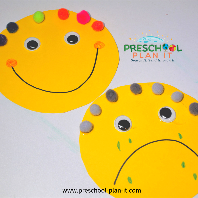 Opposites Theme for Preschool Art Activity