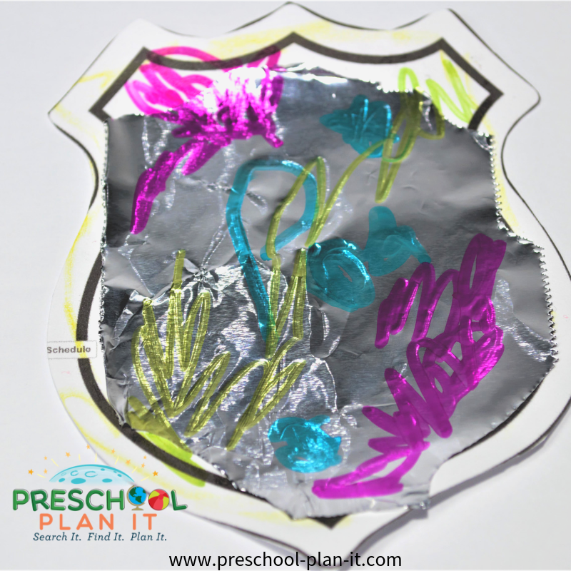 Police Preschool Theme Art Activity