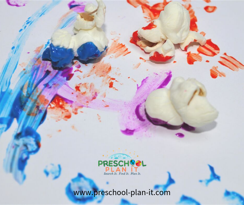 Popcorn Preschool Theme Easel Painting