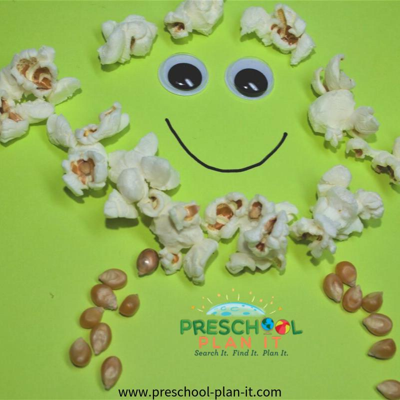 Popcorn Preschool Theme Art Activity