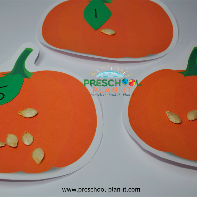 Preschool Pumpkin Activities Math Activity