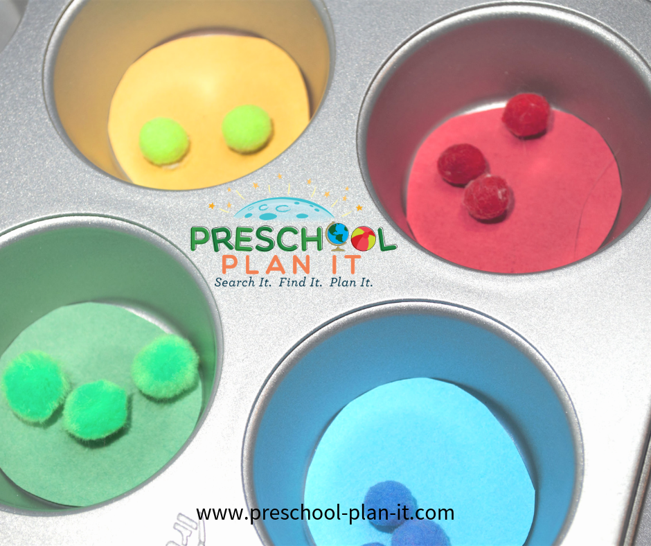 Color Sorting Activity for a Sports Theme for Preschool