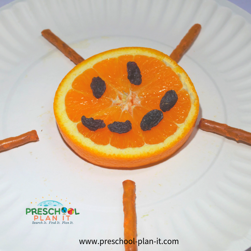 Snack Idea for a Sun Preschool Theme
