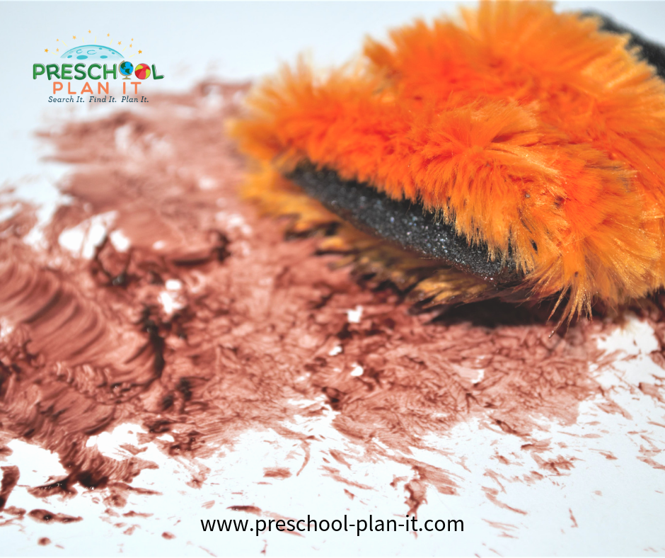 Teddy Bears Preschool Theme Painting with Fur