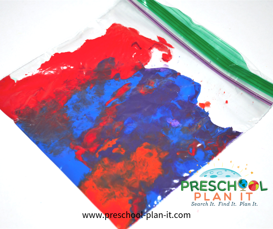 4th of July Theme for Preschool Paing Bag Activity