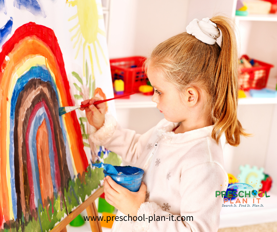 Preschool Art Easel