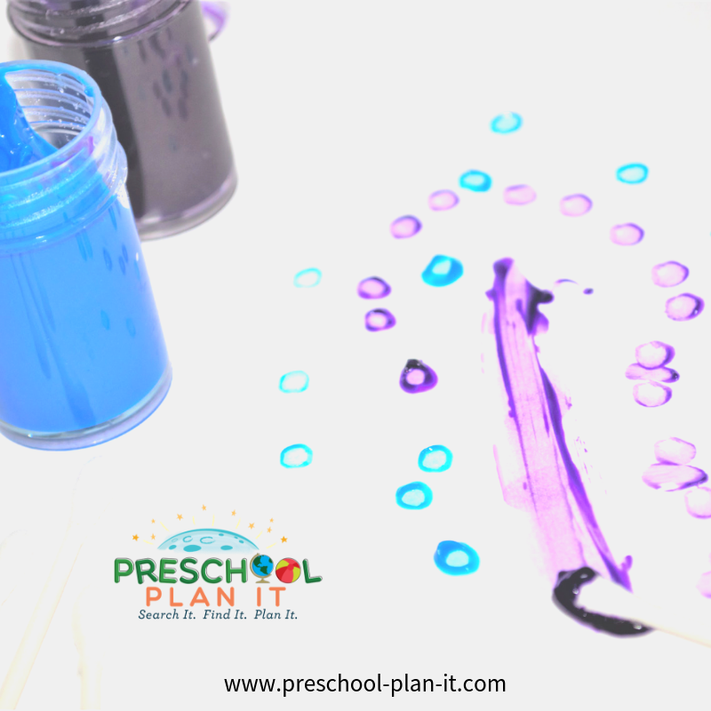 Painting Activity for a Babies Theme for Preschool