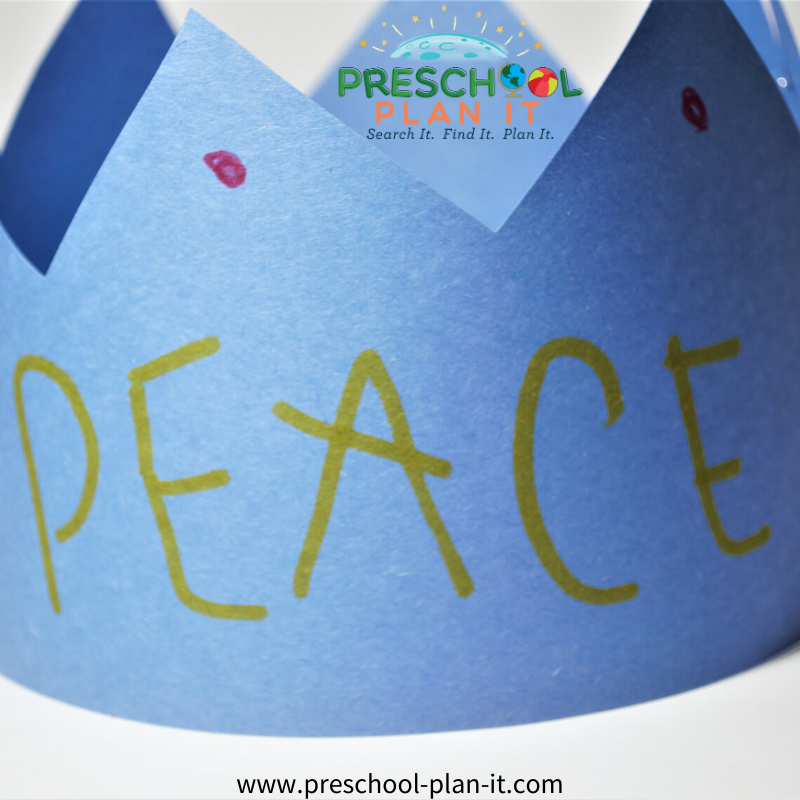 Writing Activity for a Martin Luther King Day Preschool Theme
