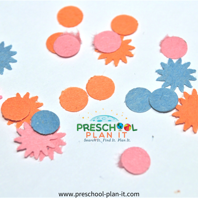 New Years Preschool Theme Fun with Confetti