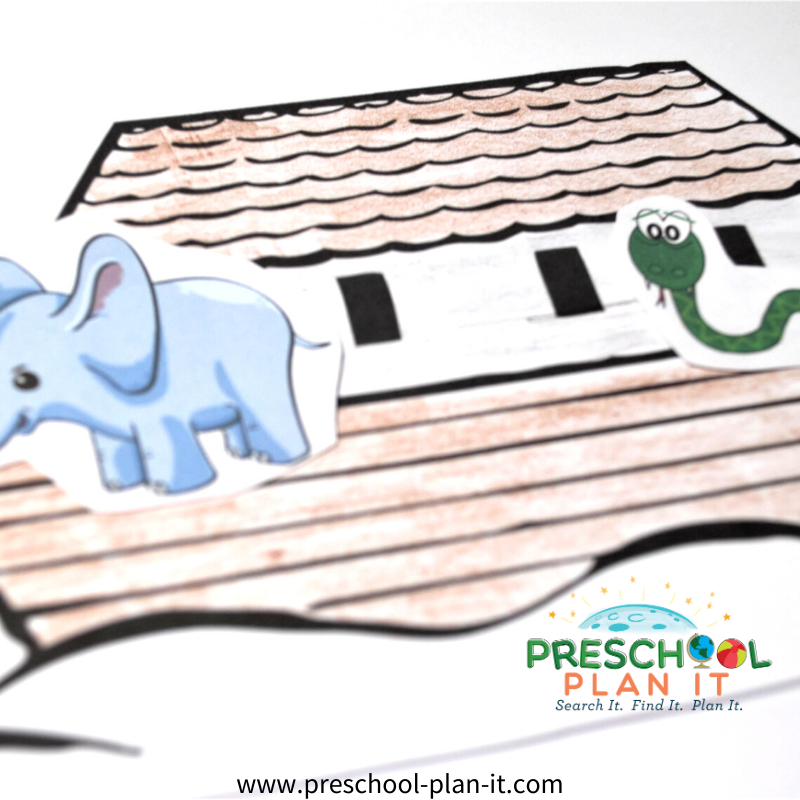 Noah's Ark Preschool Theme Art Activity