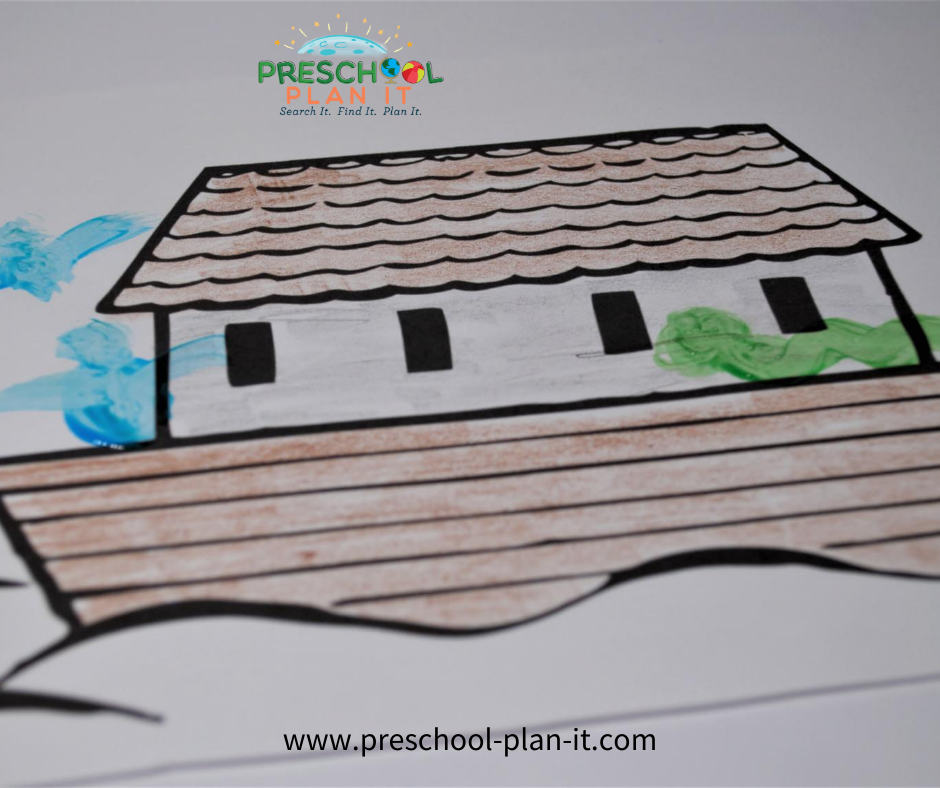Noah's Ark Preschool Theme Easel Activity