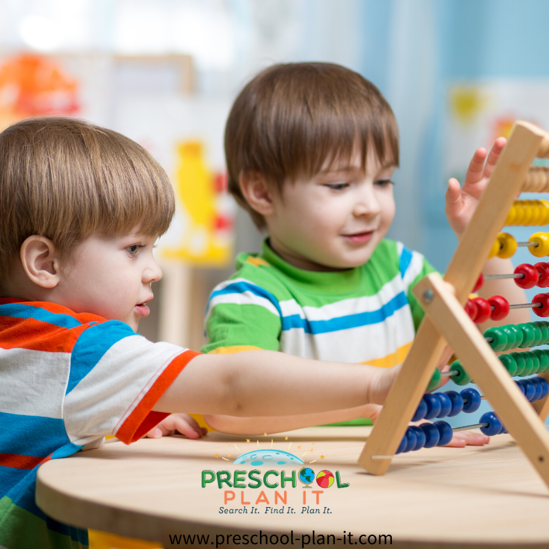 Preschool Math Interest Center