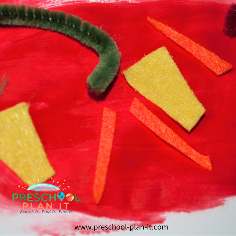 Preschool Pizza Theme Art Activity