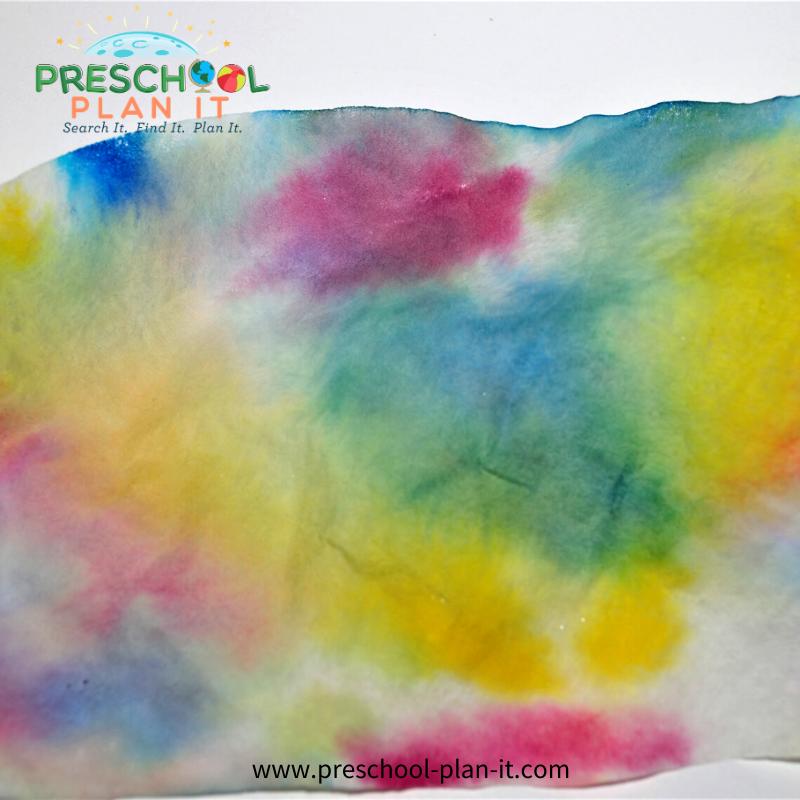 Preschool Rain Theme Art Activity