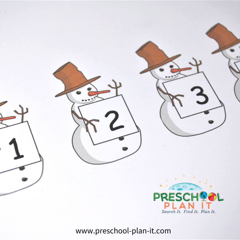 Preschool Snow Theme Matching Activity