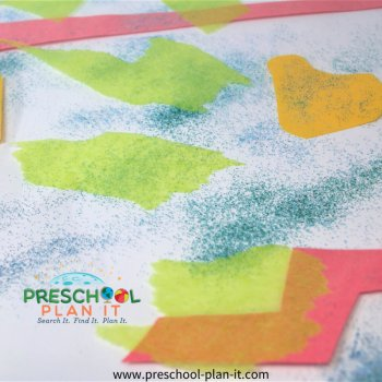 Sticky Preschool Theme Art Activity