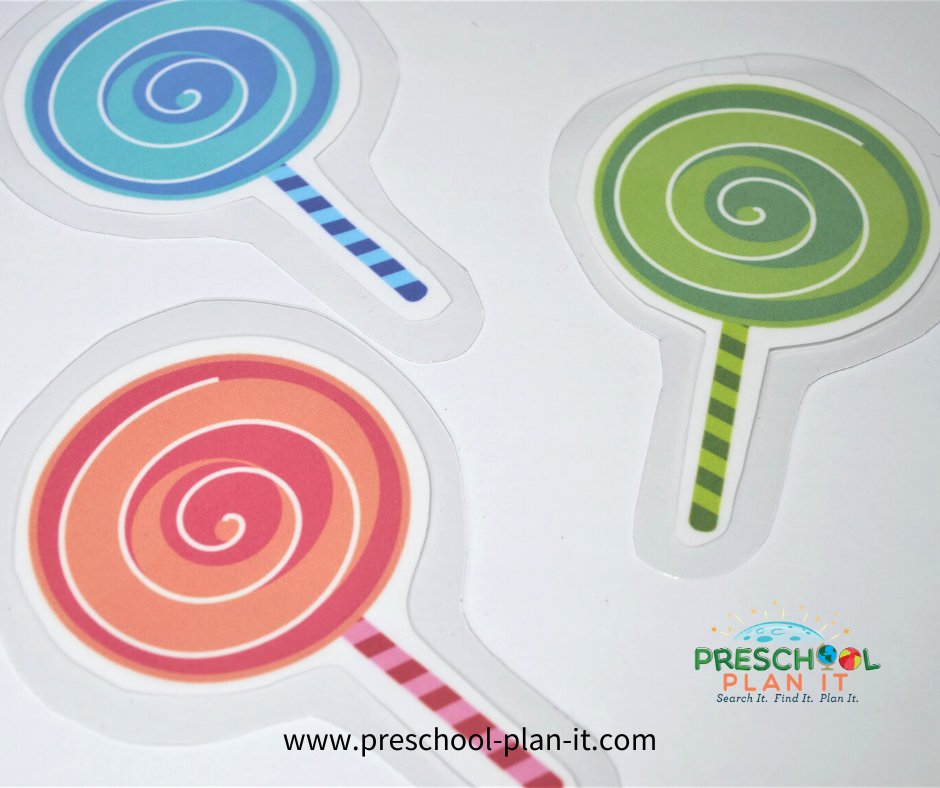 Sticky Preschool Theme Circle Time Activity
