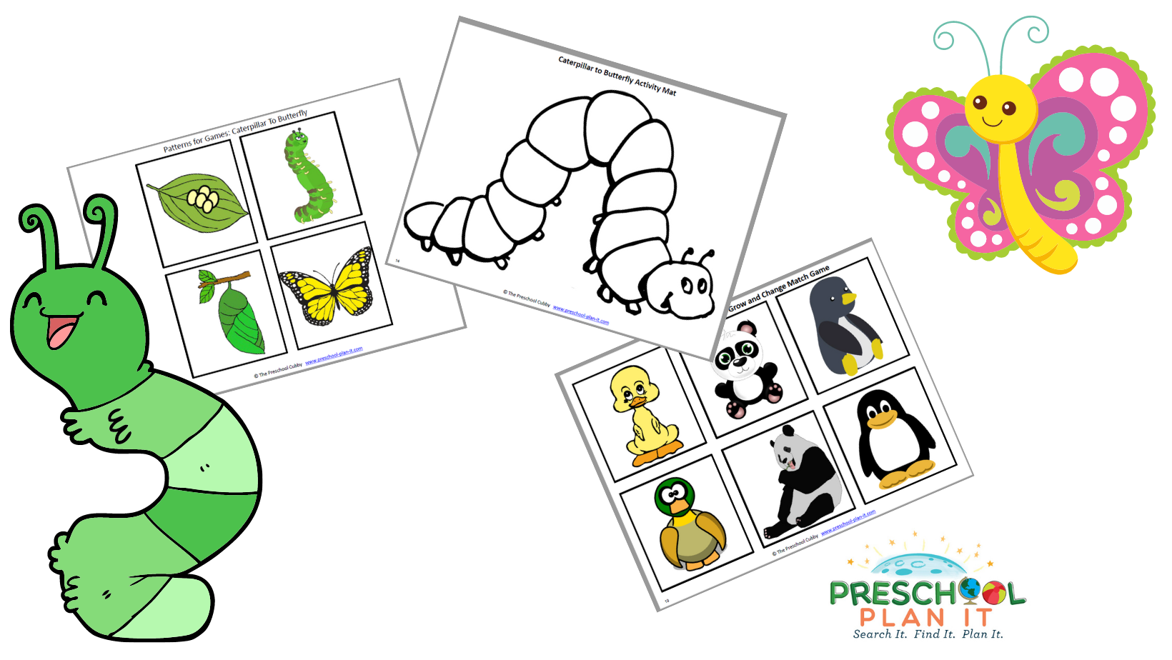A 29 page Caterpillars and Butterflies Preschool Theme resource packet to help save you planning time!