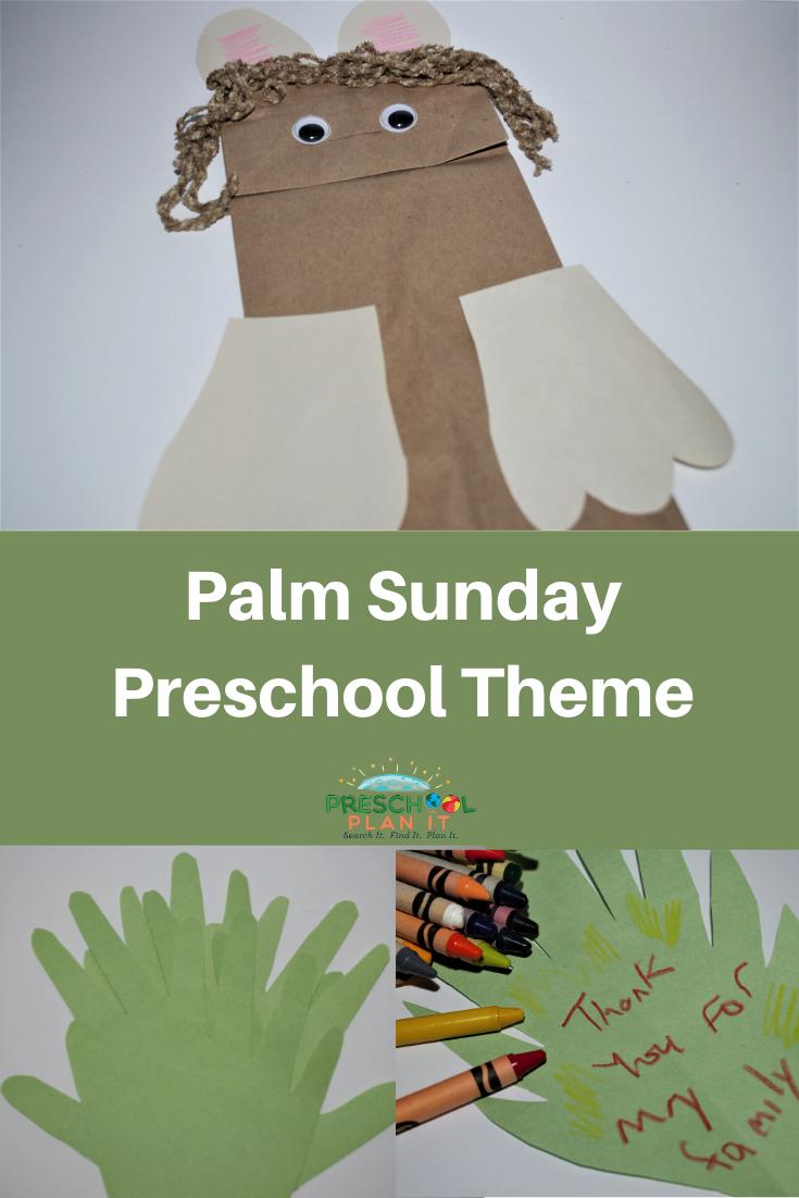 Palm Sunday Preschool Theme