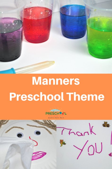 Manners Preschool Theme