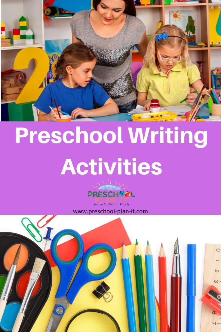 Preschool Writing Activities