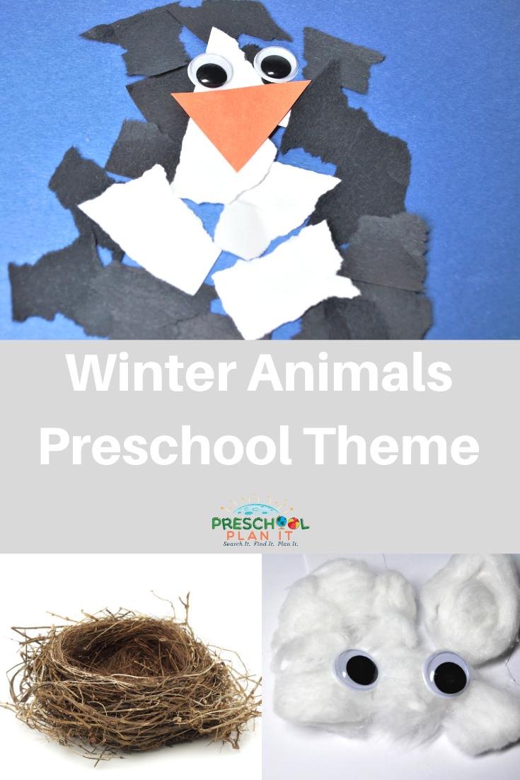 Winter Animals Preschool Theme