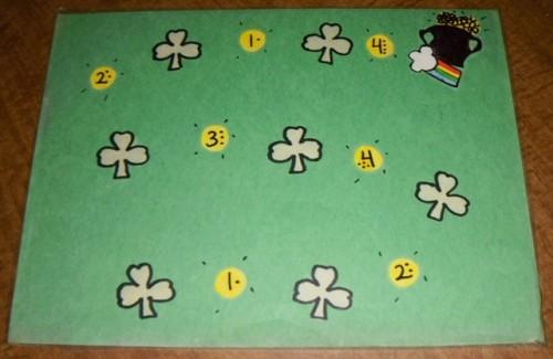 St Patrick's Day Preschool Theme Cover The Shamrocks Game